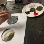 Painting a mineral