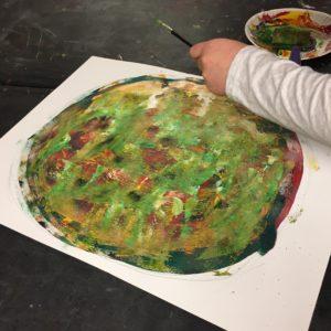 "Working on ""Rainbow Rock"""