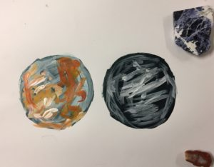 Observation of agate and sodalite