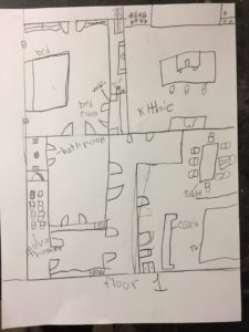 Floor plan of one student