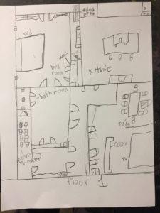 Floor plan of one student