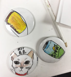 Buttons After Being Made
