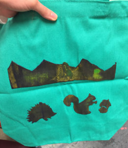 Print of Acid Rain on a Bag